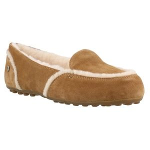 NWT UGG Hailey Suede/Sheepskin Wool Comfy Slippers